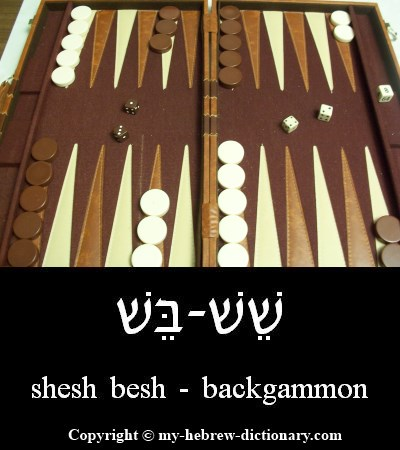 Backgammon in Hebrew