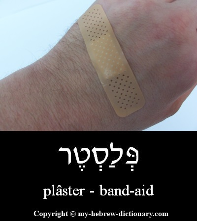 Band-aid in Hebrew