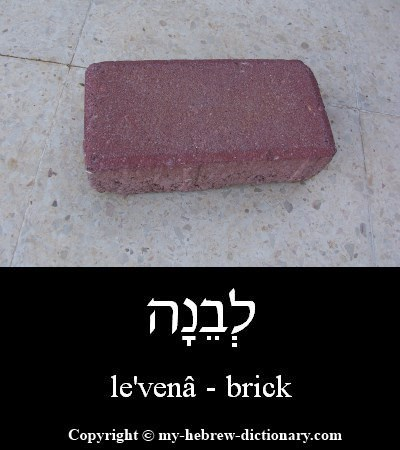 Brick in Hebrew