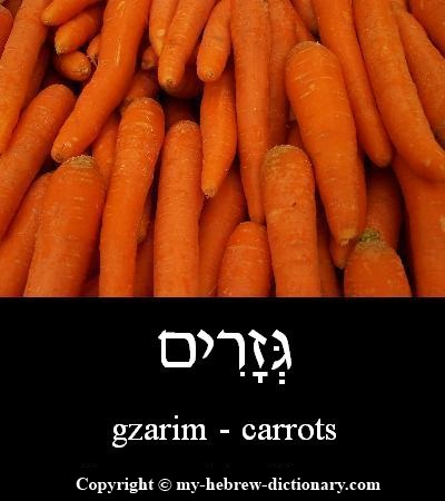 Carrots in Hebrew