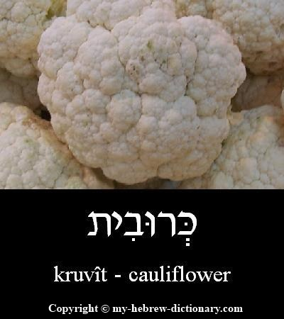 Cauliflower in Hebrew