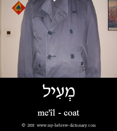 Coat in Hebrew