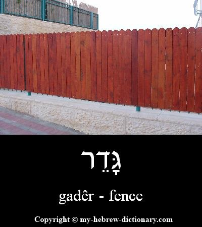 Fence in Hebrew