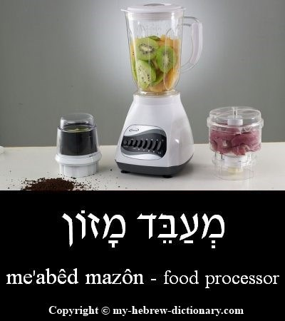 Food processor in Hebrew