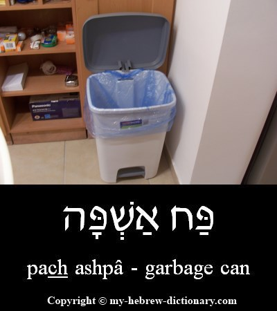 Garbage can in Hebrew