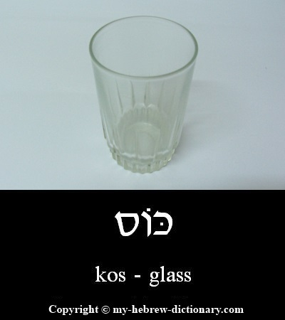 Glass in Hebrew