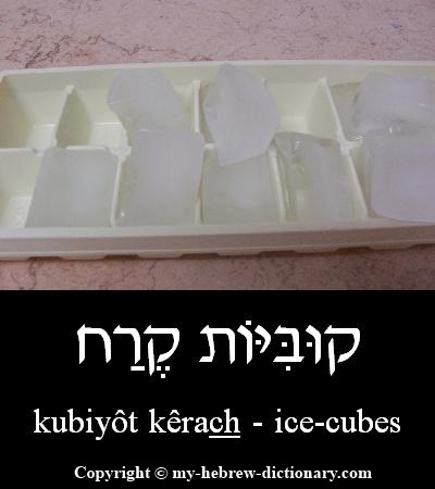 Ice-cubes in Hebrew