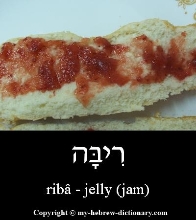 Jelly in Hebrew