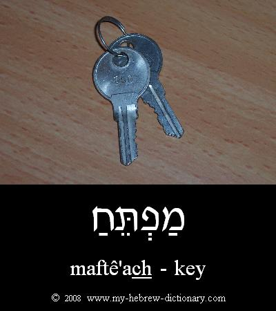 Key in Hebrew