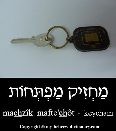 Keychain in Hebrew