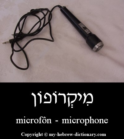 Microphone in Hebrew