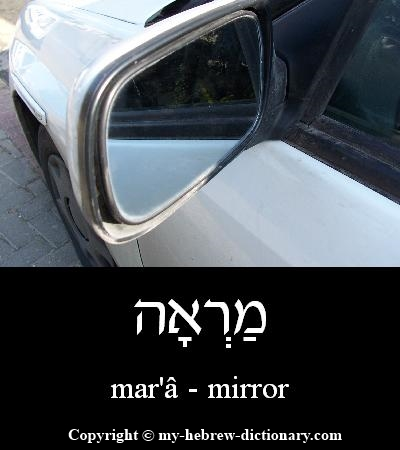 mirror in Hebrew