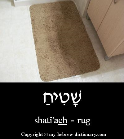 Rug in Hebrew