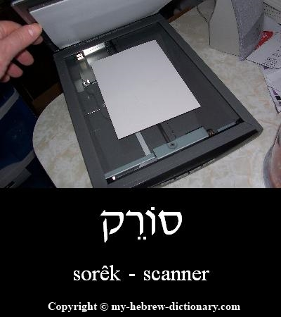 Scanner in Hebrew