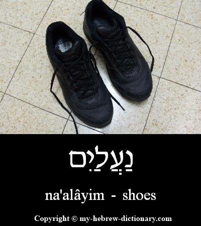 Shoes in Hebrew