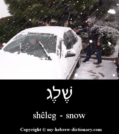 Snow in Hebrew