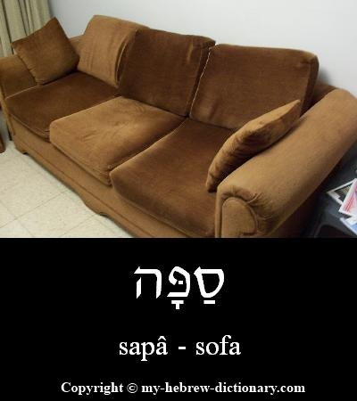 Sofa in Hebrew