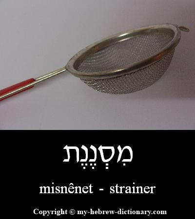 Strainer in Hebrew