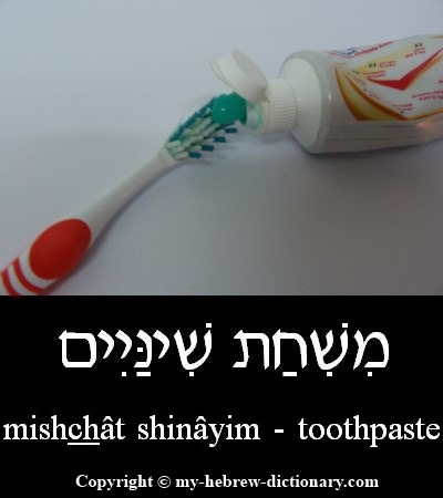 Toothpaste in Hebrew